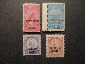 Brazil 1931/32 Air Mail S# C26/27 & C29/30, 4v overprints all MNH OG f-vf whole