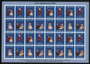 Denmark. Southslesvig 1995  Christmas Sheet  Mnh. Unfolded. Santa