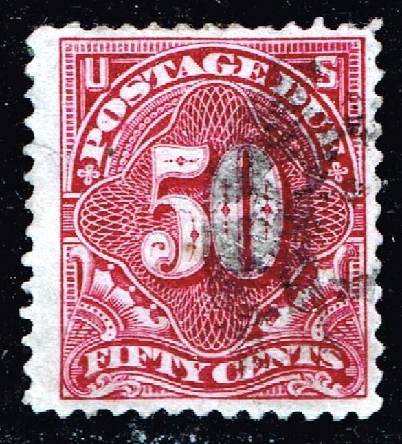 US STAMP BOB #J44 50c Postage Due 1897 Used