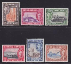 Hong Kong Scott # 168-173 VF never hinged set nice colors cv $ 100 ! see pic !