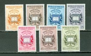 VENEZUELA 1956 BOOKS-FLAGS #C629-35 SET MNH...$17.50