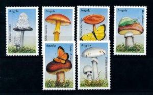 [101616] Angola 1999 Mushrooms pilze butterflies  MNH
