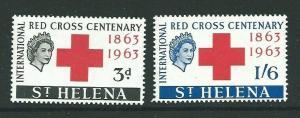 ST.HELENA SG191/2 1963 RED CROSS  MNH