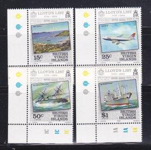 Virgin Islands 466-469 Set MNH Lloyd's List