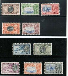 Cayman Islands #85 - #94 VF Mint
