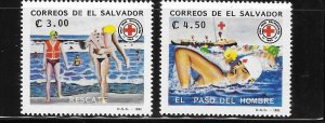 El Salvador 1992 Red Cross Life Guards Sc 1293-1294 MNH A664