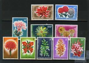 RWANDA 1966 Sc#151-160  FLORA FLOWERS SET OF 10 STAMPS MNH