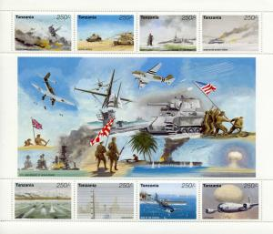Tanzania 1995 MNH WWII WW2 VE Day World War II 8v M/S Ships Tanks D-Day Stamps