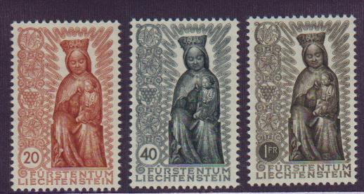 Liechtenstein #284-86 Mint VF NH