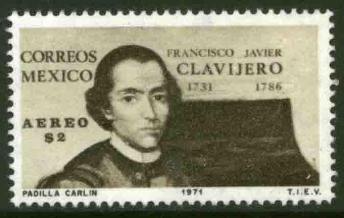 MEXICO C386 Francisco J. Clavijero, Jesuit and historian. MINT, NH. VF.