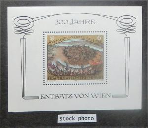 Austria 1253. 1983 6S Relief of Vienna souv. sheet, NH