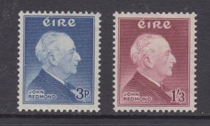Ireland Sc 157-158 MLH. 1957 John Redmond cplt VF