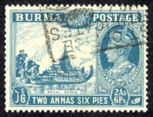Burma Sc# 57 Used (a) 1946 2a-6p King George VI