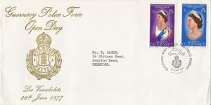 GBP134) FDC GB Commemoration of Guernsey Police Force Open Day, 26/6/77