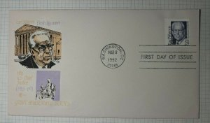 US FDC Sc# 2184 Earl Warren Cover Craft Enclosure Washington DC 1992