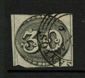 Brazil SC# 1a? , Used, sm pg remnant, minor toning - S11117