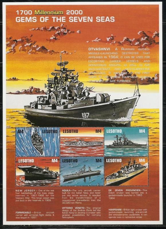 Lesotho 1215 1999 Ships m/s MNH