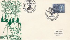 SC111) Sweden Scout Camp at Vingaker, cachet cover, pictorial cancellation