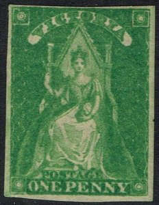 VICTORIA 1856 QUEEN ON THRONE 1D IMPERF