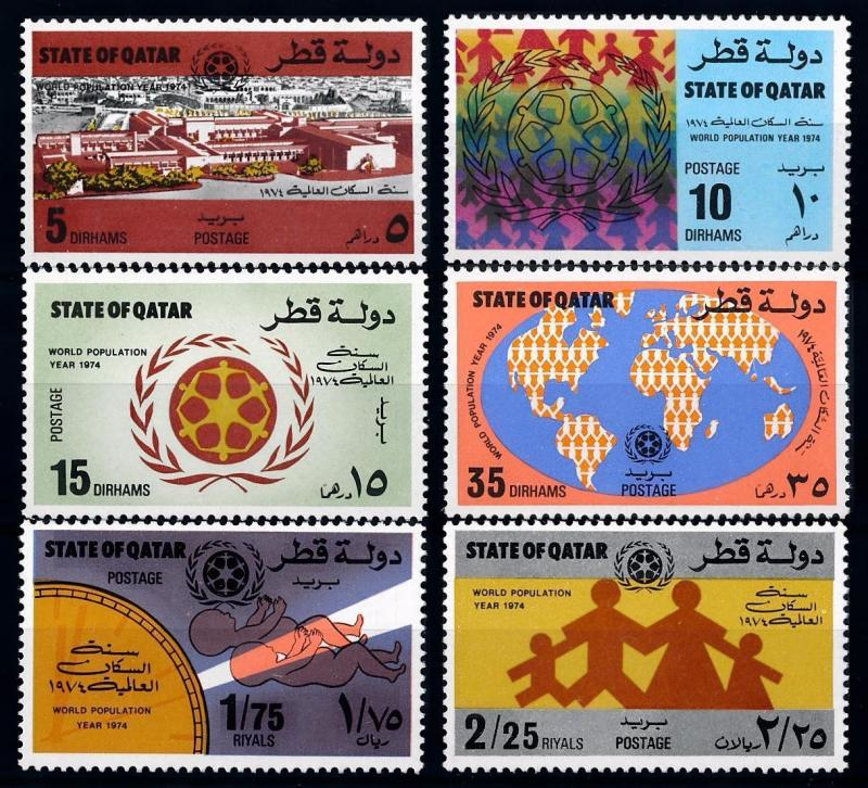 [68239] Qatar 1974 World Population Year Children  MNH