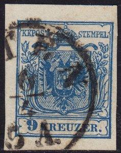 Austria - 1854 - Scott #5e - used - Coat of Arms