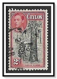 Ceylon #278 KG VI & Tapping Rubber Tree Used