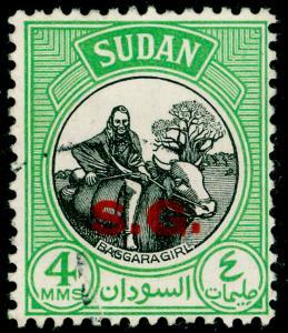SUDAN SGO70, 4m black & yellow-green, FINE USED.