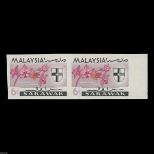 Sarawak 1965 (Variety) 6c Spathoglottis Plicata imperforate pair