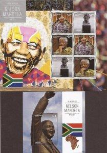 St Vincent - Canouan - 2013 Nelson Mandela  - 6 Stamp + S/S - SGC1312SHS
