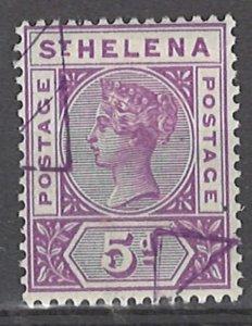 COLLECTION LOT # 3042 SAINT HELENA #45 PRECANCEL 1896 CV=$37.50