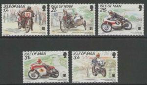 ISLE OF MAN SG478/82 1991 TOURIST TROPHY MOUNTAIN COURSE MNH