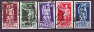 J21522 Jlstamps 1938 italy east africa 1 short for set used #22-6 designs