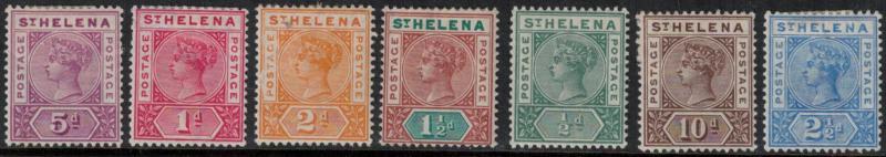 St. Helena 1890-1897 SC 40-46 Set LH CV $95.25