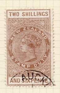 New Zealand 1880s Stamp Duty Issue Fine Used 2S.6d. 276732