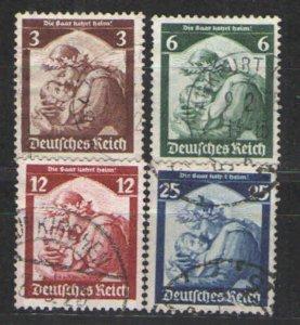 Germany - Third Reich 1935 Sc# 448-451 Used VG - Return of the Saar