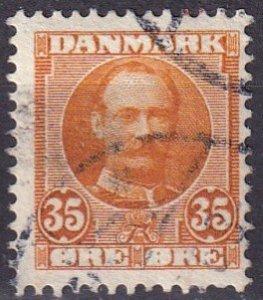 Denmark #76  F-VF Used CV $10.00
