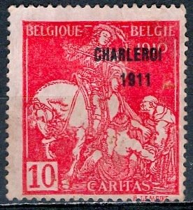 Belgium; 1911: Sc. # B24: O/Used Single Stamp
