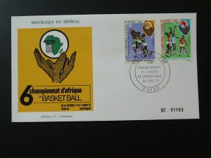 basketball African Cup 1971 FDC Senegal 81071