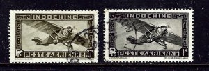 Indochina C10 and C14 Used 1933 issues