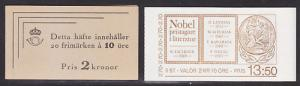 Sweden Sc 379a, 1566a MNH. 1946/85 Unexploded Booklets