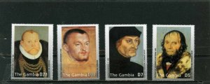 GAMBIA 2003 PAINTINGS BY LUCAS CRANACH 4 STAMPS MNH