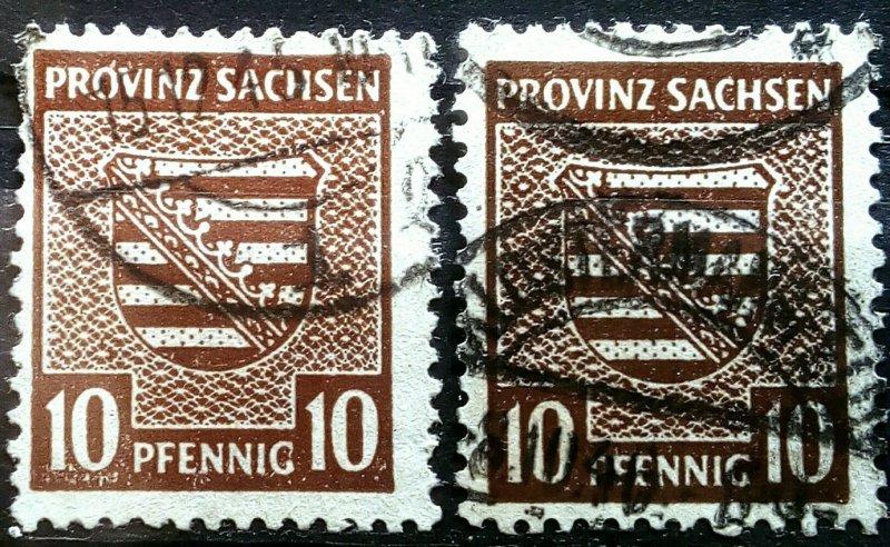 Germany Provinz Sachsen 75Xab, 78Xab, 80Yab used