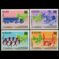 ZAMBIA 1990 - Scott# 511-4 Development Set of 4 NH