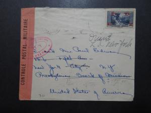 Lebanon 1940 French Censor Cover to USA - Z10139