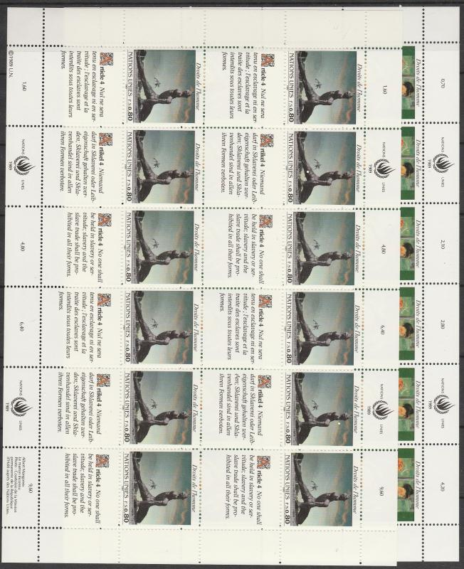 United Nations Geneva #180-1   Panes Of 12  MNH  CV $17.50 (S6261L)