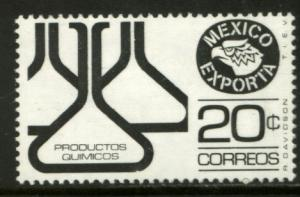 MEXICO Exporta 1166, 20c Chemical flasks Wmkd Fosfo Paper 2 MINT, NH. F-VF.