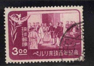 RYUKYU (Okinawa) Scott 27 Used stamp 1953