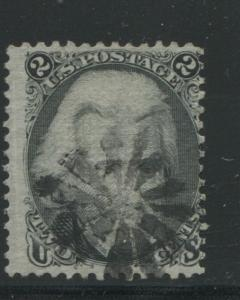 1868 US Stamp #84 2c Used Fancy Cancel D. Grill Catalogue Value $4250 Certified