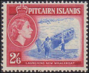 1957 Pitcairn Islands #20-30, Complete Set(11), Hinged