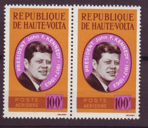 J15518 JLstamps 1964 upper volta-burkina faso set of 1 pair mnh #c19 kennedy